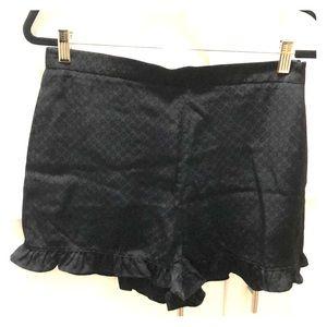 Black Ruffle Dress Shorts